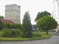 Pohled na vodárenskou věž v DPN Opařany