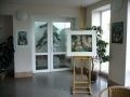Foyer v DPN Opařany s obrazy